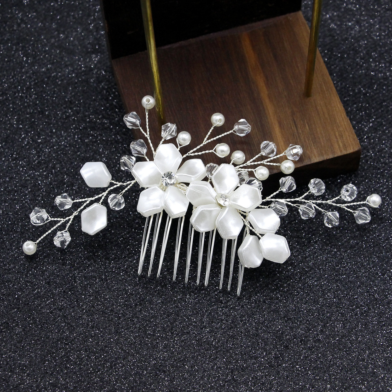 us $5.22 11% off|white gold wedding hair combs handmade crystal pearl bridal wedding accessories hair jewelry 2019 new wedding hair piece-in bridal