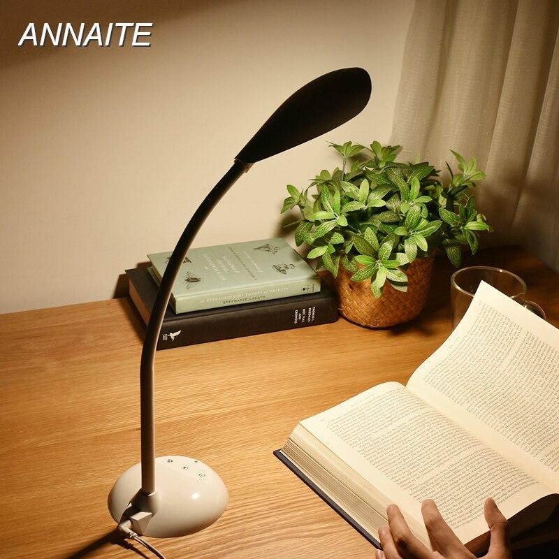 USB Desk Lamp 3-level Touch Dimmer Table Lamp Flexible Book Reading Lights Children Study Lamp lampe bureau led bureaulamp five touch dimmer usb desk lamps study reading lampe led aluminum modern office abajur para quarto flexible table masa lambas t8