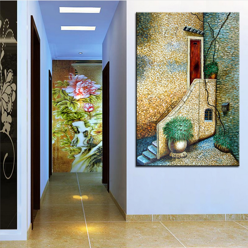 Extra Large Wall Painting Of Back Door Home Office