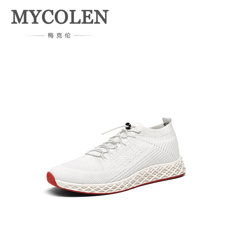 ff86cf2df MYCOLEN/Летняя мужская повседневная обувь для взрослых Удобная стильная  Водонепроницаемая модная мужская обувь с эластичным