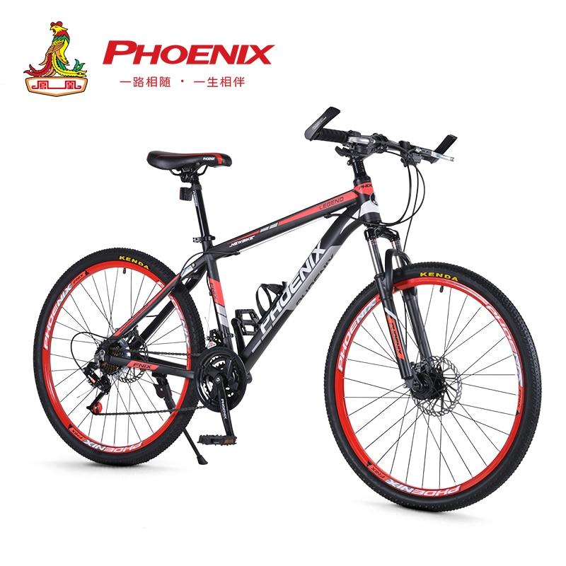 Phoenix 24 26 Mountain Bike 21 27 Speed Mens Women Steel Bicycle MTB Suspension Fork Bicycle