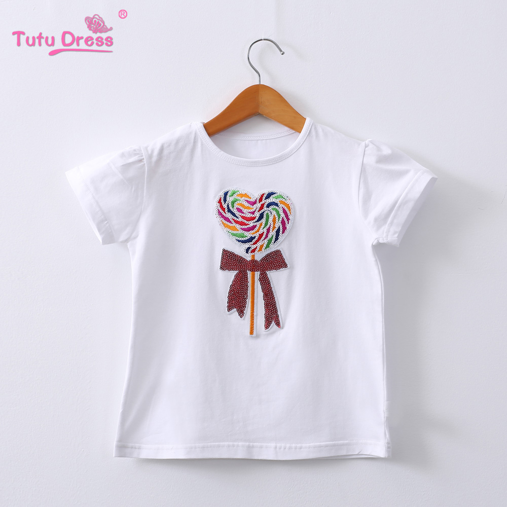 Children's T-shirt Girl's Cartoon Short Sleeves T shirt Girls Summer Clothes Cartoon Cotton Tops недорго, оригинальная цена