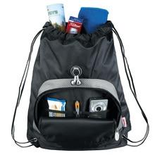 Portable Home Travel Storage Bag String Bag Drawstring Backpack Bag M Square Kids Travel Backpack 011