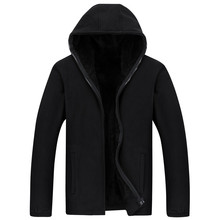 2020 새로운 남성 두건 캐주얼 울 겨울 두꺼운 따뜻한 코트 남성 벨벳 남성 스웨터 코트 지퍼 카디건 Hoody 남자 의류
