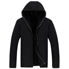 2020 New Men Hooded Casual Wool Winter Thickened Warm Coat Male Velvet Male Sweatshirts Coat Zipper Cardigan Hoody Man Clothing