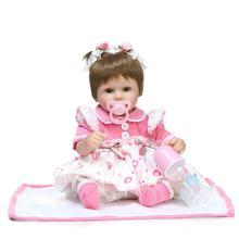 45cm Doll Reborn bebe Silikon Reborn Dolls Igračke Realistic Lifelike BeBe Reborn Novorođenče Bonecas Igračke Juguetes Igračke za bebe