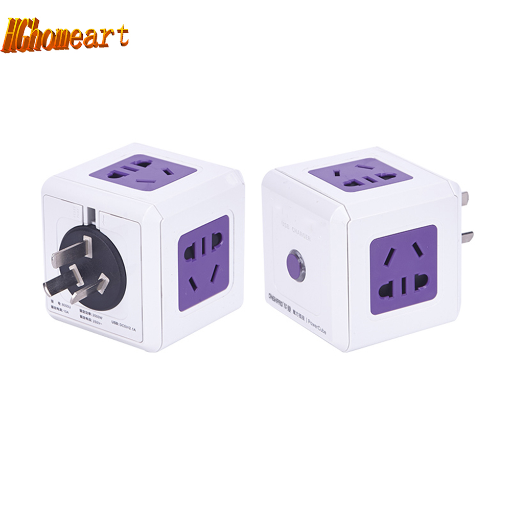 US $14.8 30% OFF|multi mode square cube wiring board creative outlet on