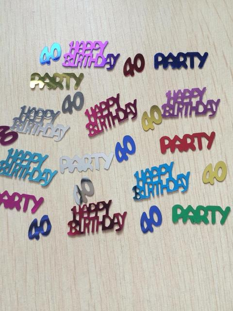 50g Men Adults Happy Age 40th Birthday Party Decoration Kits Green Blue Number 40 Confetti Table Sprinkles