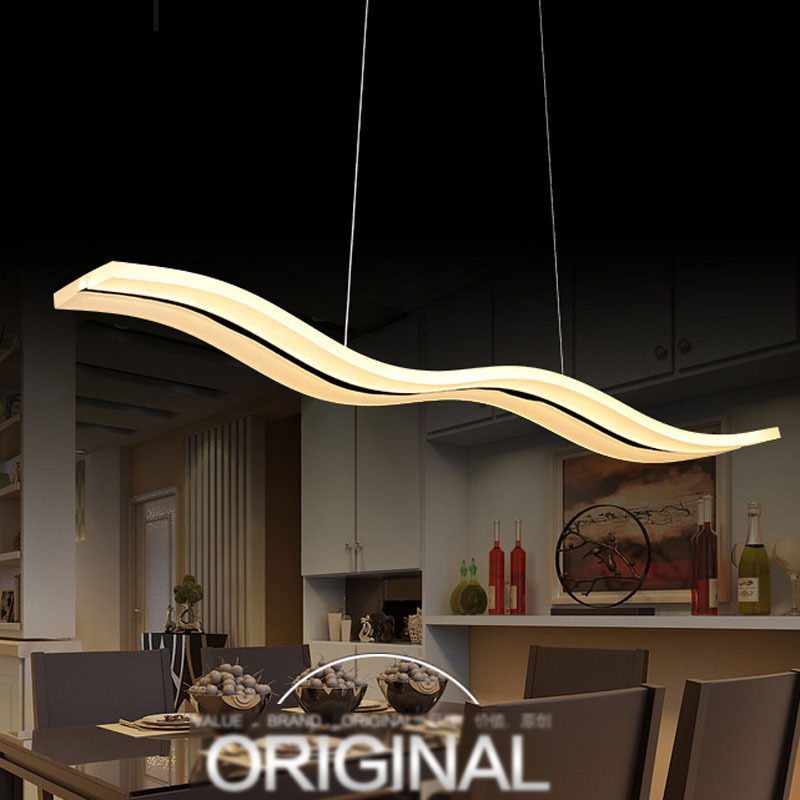 Simple Acrylic Wave Line Led Pendant Lights Dining Light Coffee Shop Hanglamp Restaurant Hanging Lamp Minimalist Pendant Lamp Simple Acrylic Wave Line Led Pendant Lights Dining Light Coffee Shop Hanglamp Restaurant Hanging Lamp Minimalist Pendant Lamp