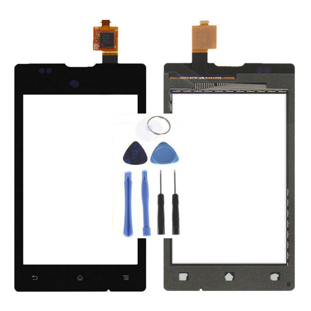 Vannego Black / White Touch Screen Digitizer Panel Sensor Glass Lens  Screen For SONY XPERIA E C1505 C1504 DUAL C1605 C1604