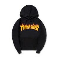 New Trasher Hoodies Men Women Fashion Printing Cotton 1 1 Casual Sweatshirts Summer Skateboard Tee Boy