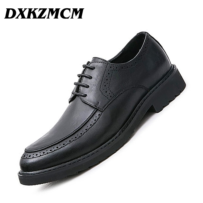 DXKZMCM Men Dress Shoes Formal Wedding Leather Shoes Handmade Retro Brogue Business Office DXKZMCM Men Dress Shoes Formal Wedding Leather Shoes Handmade Retro Brogue Business Office