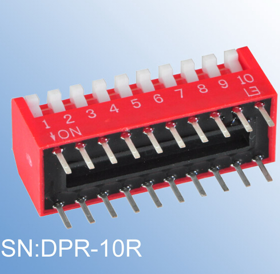 ELEWIND recessed type of PIANO DIP SWITCH(DPR-10R)