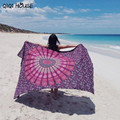 Mandala Blanket Oversize Beach Towel Cover Up Bikini Boho Summer Dress Swimwear Bathing Suit Kimono Tunic  Blanket Scarf#C812