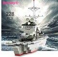 228 pc Conjunto de Blocos de Construção de Navios Navios de Guerra Modelo Militar Technic Brinquedos do Presente Do Desenhista Compatível Legoe Cidade Educação Militar