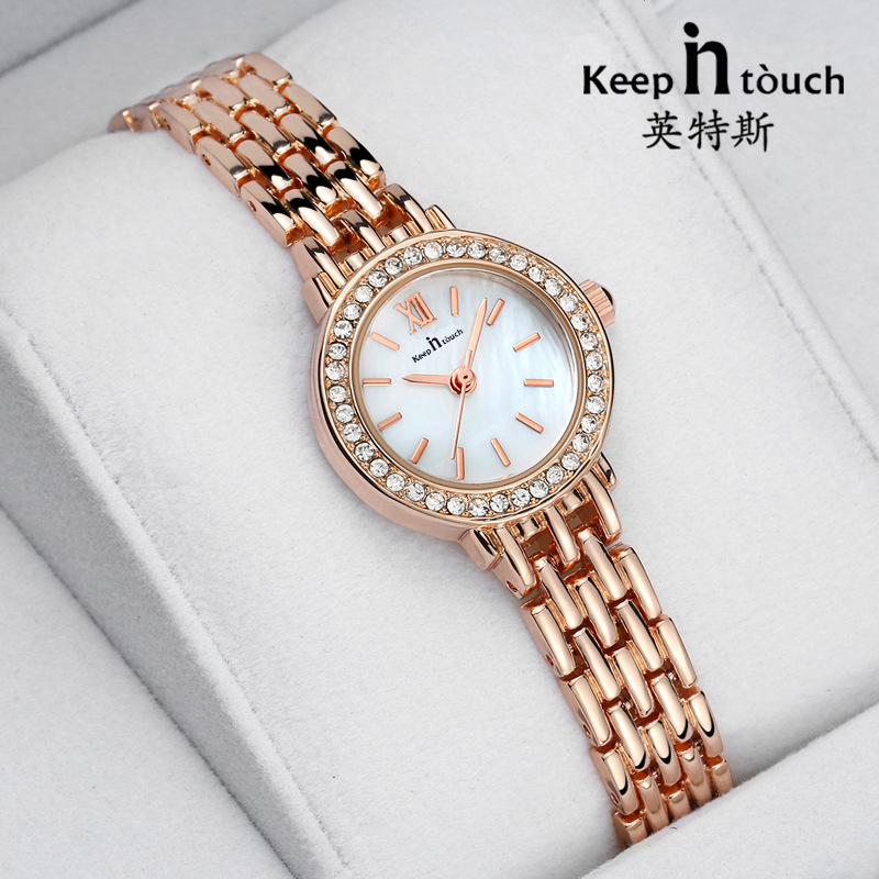 цена на Reloj Mujer Rose Gold Quartz-watch Fashion Stainless Steel Luxury Women Watches Ladies Crystal Bracelet Watch Relogio Feminino