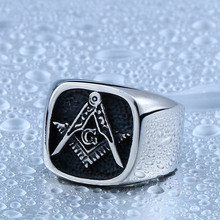 BEIER Master Masonic G Signet Ring For Man Stainless Steel Ring for Man and Boy Never Fade Gift for Man BR8-130C
