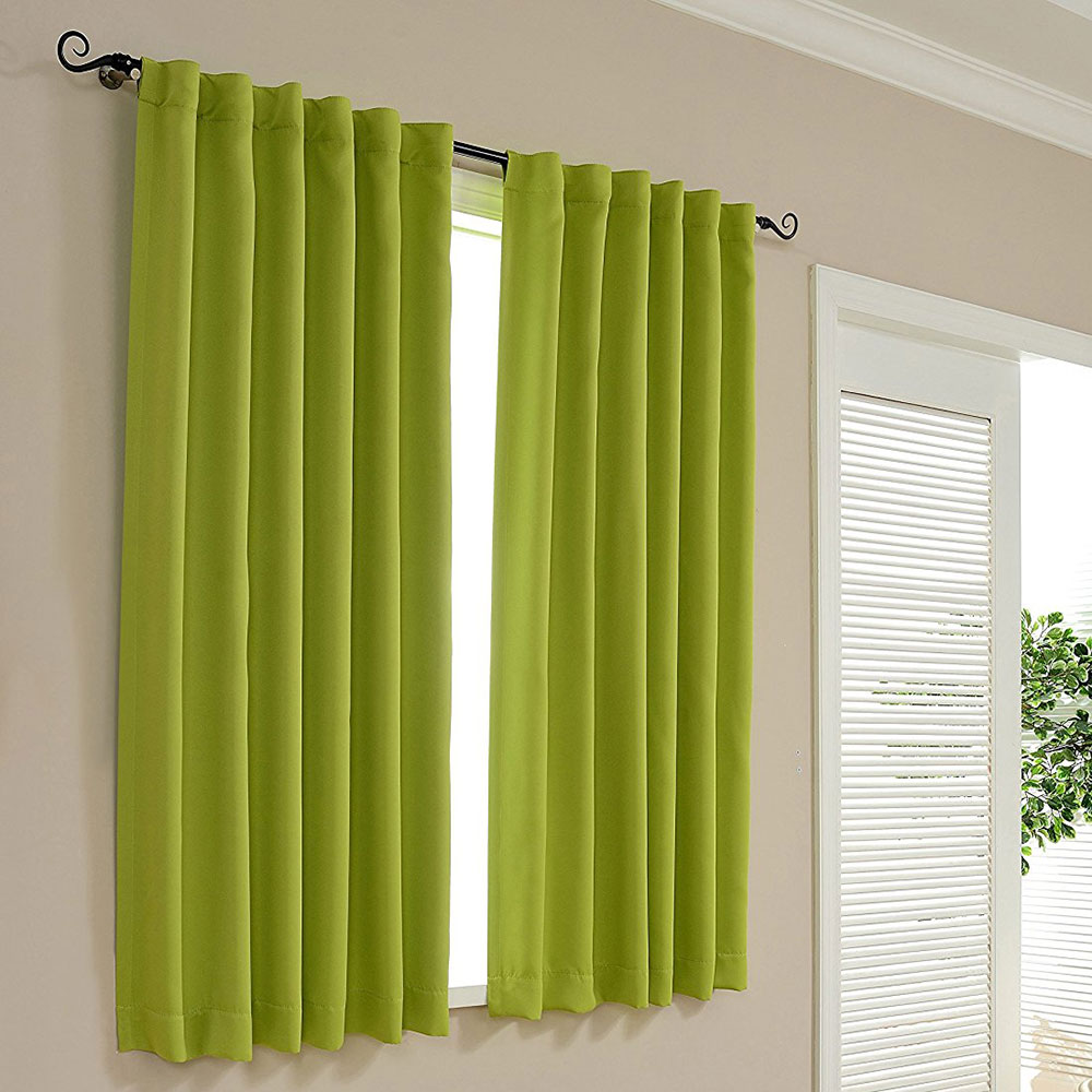 Green curtains for bedroom - Insulated Blackout Curtains Modern Bedroom Decorations Tab Top Window Treatments Green Window Curtain Living Room Single Panel
