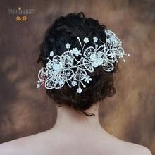 TOPQUEEN HP246 свадебные хрустальные свадебные волосы лоза аксессуары для длинных волос для волос Свадебная повязка на голову свадебная корона Свадебная Тиара для невесты