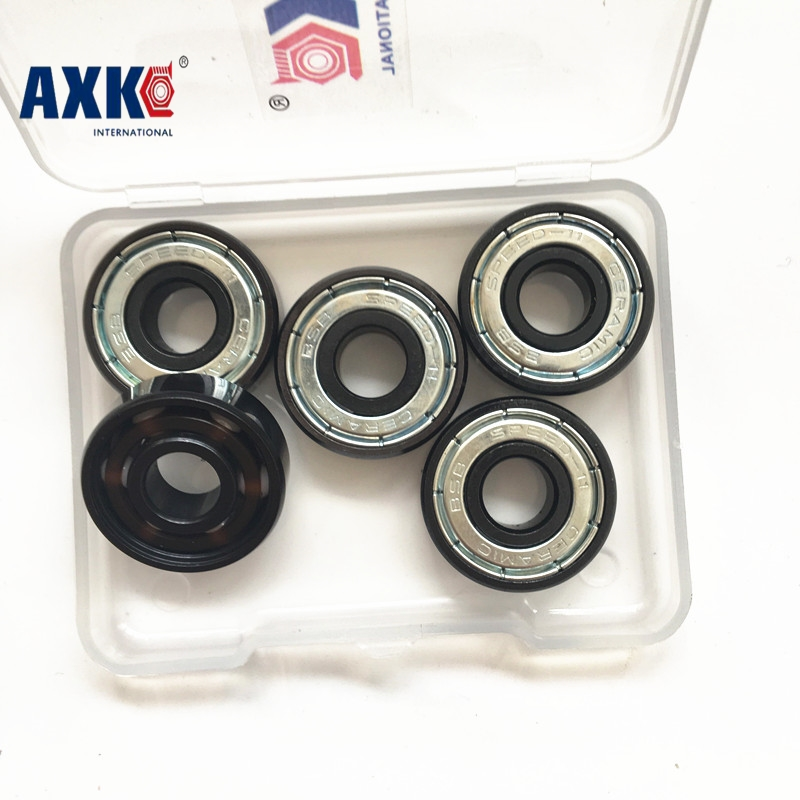 bearing 608 zro2 Ceramic hybrid Ball Bearing 608 Slalom freestyle skateboard wheel High Speed Skate Freeline Skate parts 50pcs 608 stainless steel black ceramic ball bearing for handspinner drift board skateboard finger gyro toy hardware accessories
