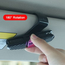 1Pcs Car Accessory Sun Visor Sunglass Eyeglasses Glasses Card Pen Abs Portable Clip Ticket Holder Stand(China)