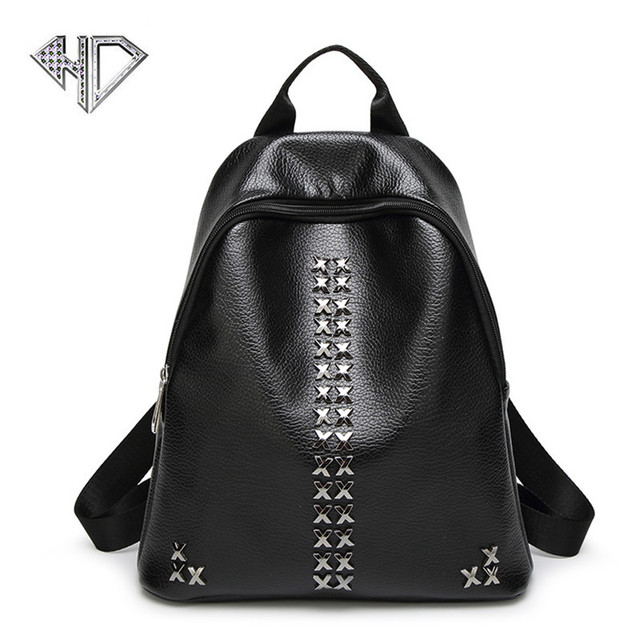5183f88215 2017 Fashion Women Backpack High Quality Youth PU Leather Backpacks for Teenage  Girls Female School Shoulder Bag Bagpack mochila