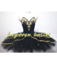 Высокое качество Классический Индивидуальные Черный лебедь костюм черная птица балетное платье, показать взрослых Делюкс блесток Балетны