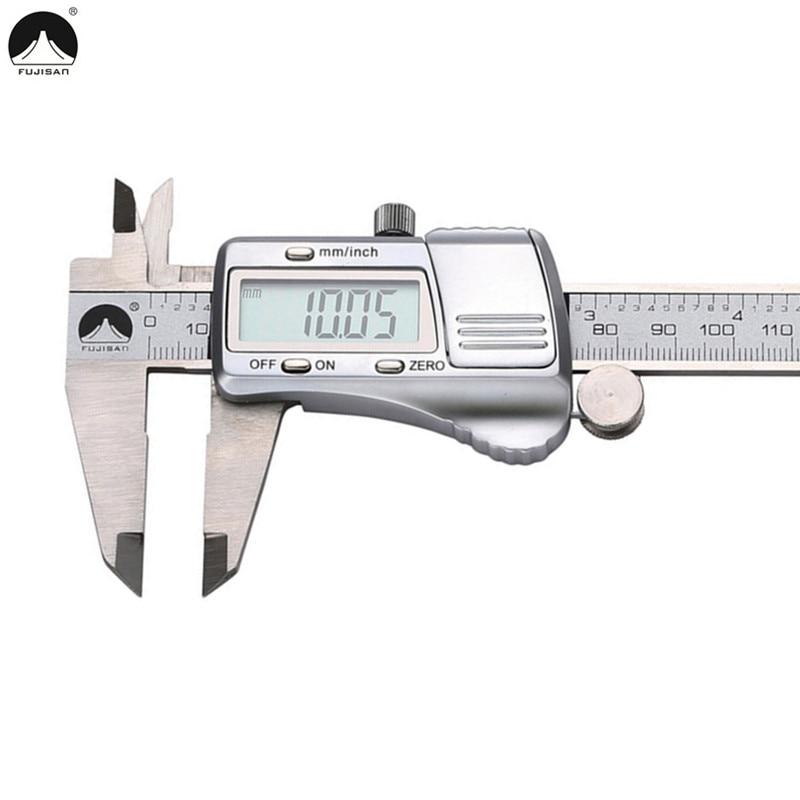 FUJISAN Digital Caliper 0-150mm/0.01 Electronic Stainless Steel Vernier Calipers Metric/Inch Gauge Micrometer Tool цена