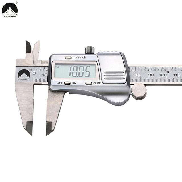 FUJISAN Digital Caliper 0-150mm/0.01 Electronic Stainless Steel Vernier Calipers Metric/Inch Gauge Micrometer Tool