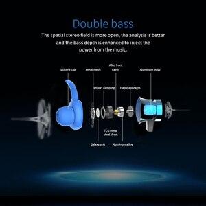 Image 3 - XT22 Drahtlose Bluetooth 4,2 Kopfhörer Magnetische Anziehung Headset 3D Stereo Bass Wasserdichte Sport Kopfhörer mit Mic TF Karte