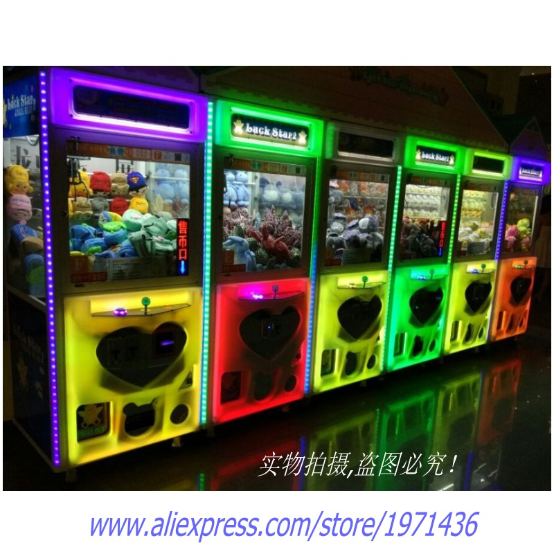 Guangzhou Factory High Quality Colorful Bright Luminated Token Coin Operated Arcade Games Doll Cranes Claw Machine high quality coin operated slot machine for toys vending cabinet capsule vending machine big bulk toy vendor arcade machine