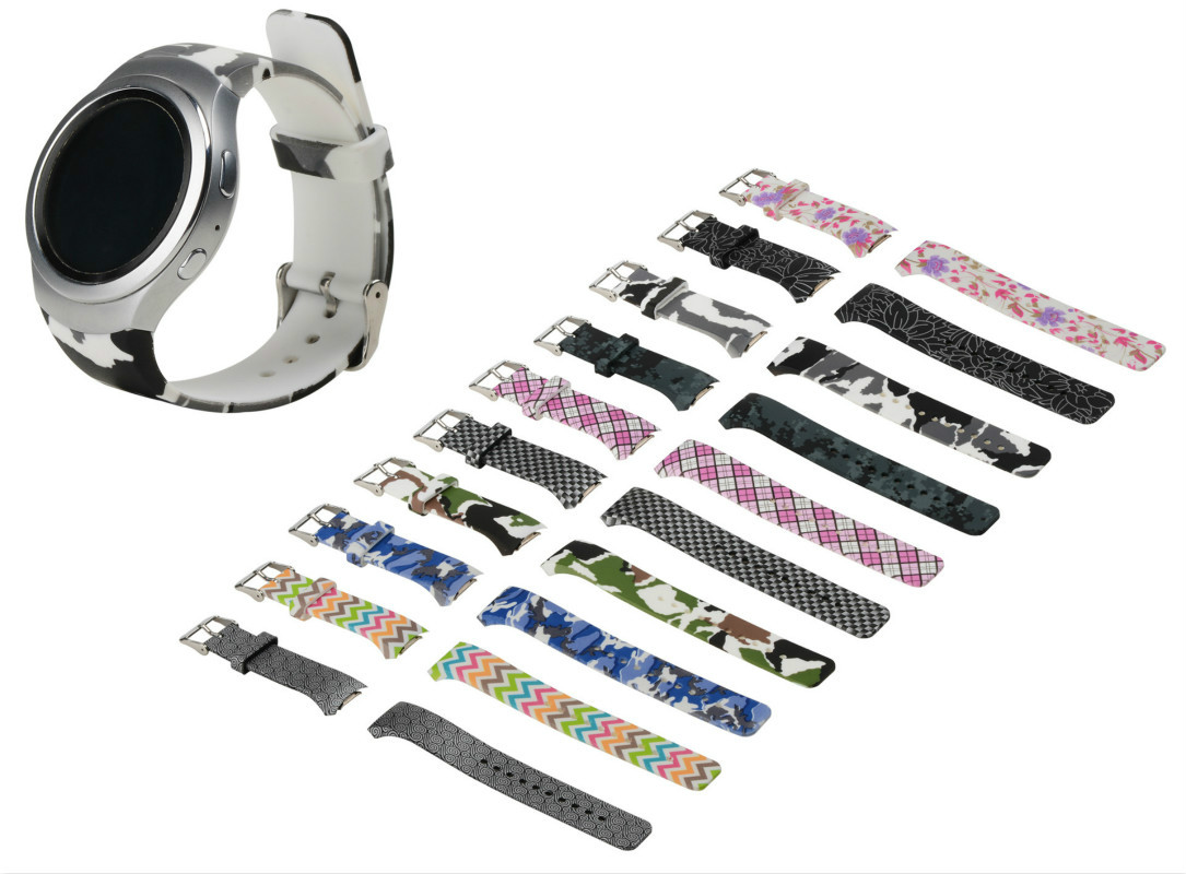 New Color printing Silicone Strap Watchband Replacement for Samsung Galaxy Gear S2 R720