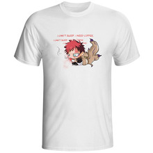 Naruto Sabaku no Gaara I Can Not Sleep T-shirt Anime Cartoon Fashion Pop Style T Shirt Casual Rock Print Women Men Top Tee