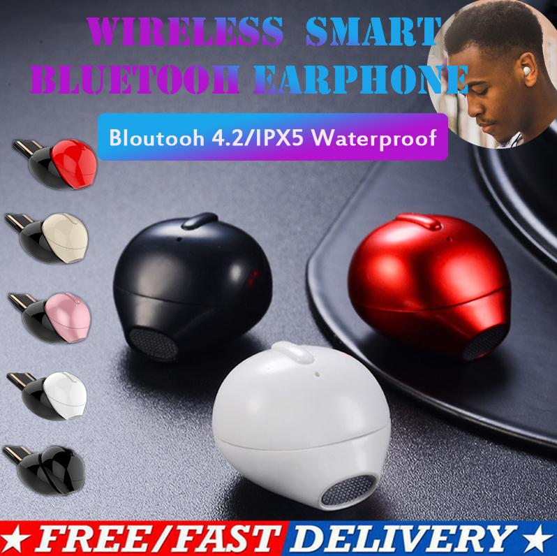 Cheap IPX5 Waterproof Mini Single Wireless Bluetooth 4.2 Earphones Headset Earbuds Stereo Earphones With Good Quality image