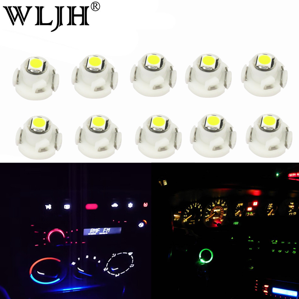 WLJH 10x Led <font><b>T3</b></font> Neo Wedge 3030 SMD A/C Climate Controls Lights Lamps Bulbs for Honda Civic 2003 2004 2006 2007 2008 2009 2010 image