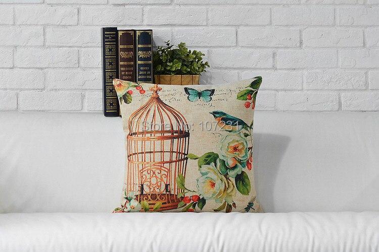 New 2pcs a lot Vintage Linen Pillow Cushion Cover Throw decorative - Home Textile - Photo 4