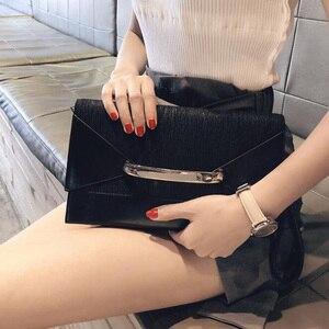 Image 4 - Клатч конверт для женщин, роскошные кожаные сумочки, вечерний клатч на день рождения для женщин, Дамский саквояж на плечо, кошелек
