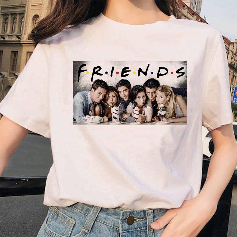 friend tv show women femme clothes t shirt female t-shirt t-shirt top tee shirts harajuku summer 90s tshirt grunge streetwear