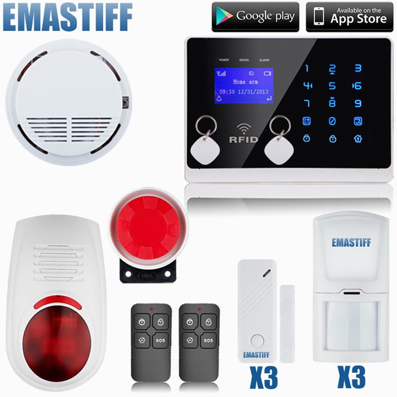 Aliexpress.com : Buy Wireless GSM SMS Call Home GSM Alarm System Android ISO App Burglar Alarm