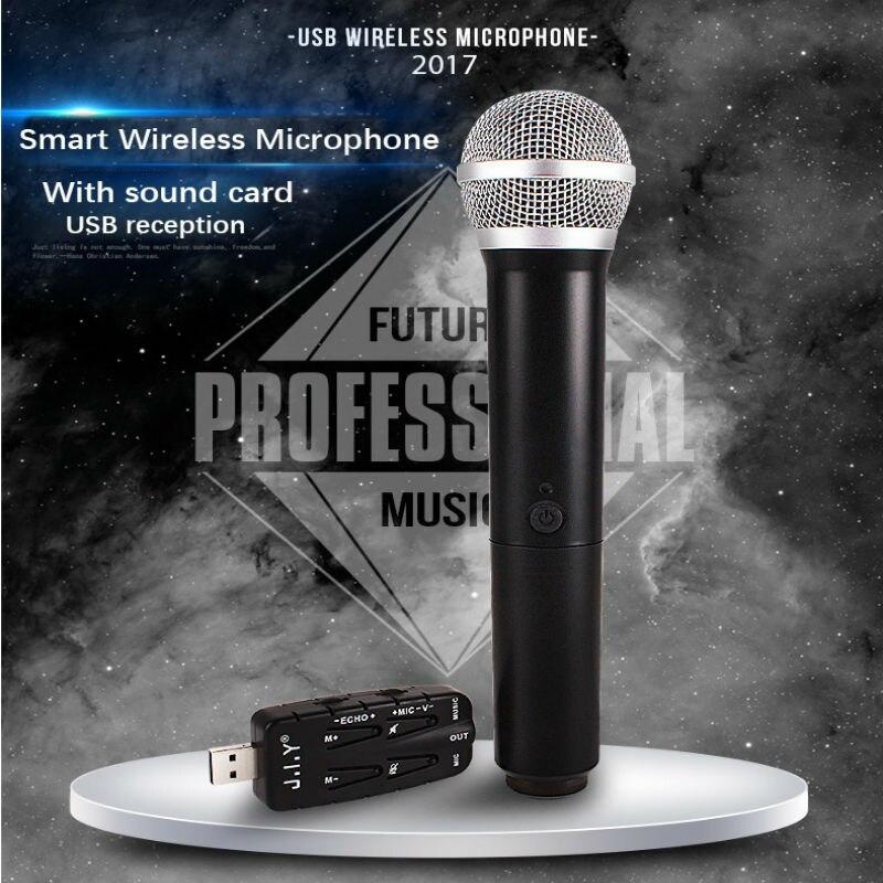 JIY Smart USB Microphone universel sans fil Microphone professionnel USB studio Microphone pour chanter TV ordinateur Plug and play