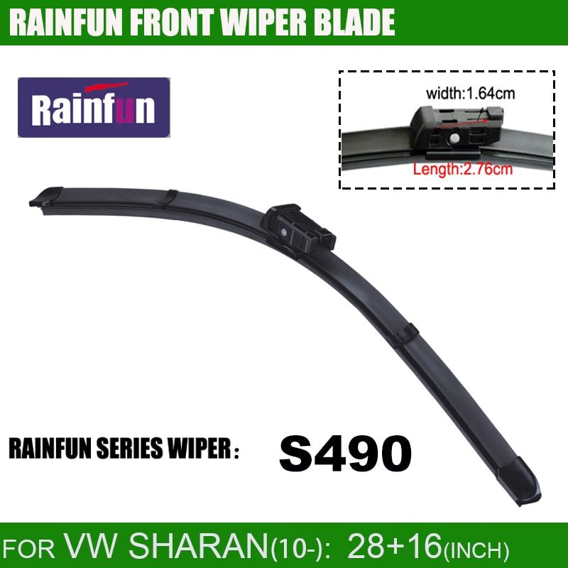 RAINFUN специальный автомобиль стеклоочистителя для VW SHARAN(10-), 28+ 16 дюймов с высоким качеством натурального каучука, 2 шт. в партии