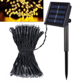 Jiawen Waterproof IP65 10M 100leds Solar Powered LED String lights for Garden,Yard,Home, and Holiday Decorations string lights