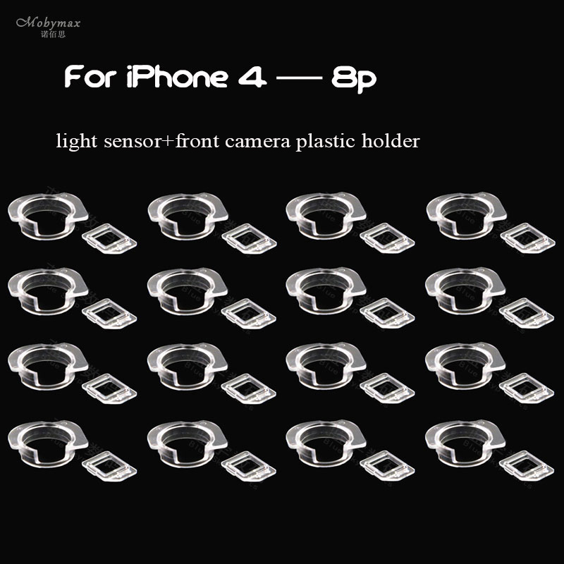 50pcs for iPhone 4 4s 5 5c 5s se 6 6p 6s 6sp 7 7p 8 8p Front Camera Plastic Cap Seal Bracket Ring+Light Sensor Circle Holder