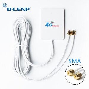 Image 4 - KuWfi 3G/4G LTE anten 4G harici anten 3m kablo ile Huawei ZTE 4G LTE yönlendirici Modem ile hava TS9/ CRC9/ SMA bağlantı