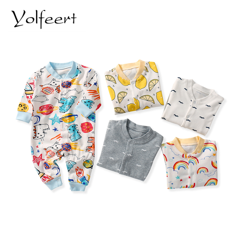 YOLFEERT 2018 baby clothes Full Sleeve cotton infantis baby clothing   romper   newborn boy girl clothes YF0124-1