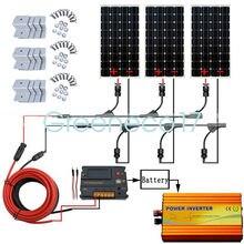 300W PV System Kit 3*100W 12V Solar panel & 20A CMG Solar Controller for caravan