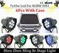 6units 7x10W Led Par Light DMX512,RGBW Led Par Light,Mini Led Par 4in1 Cheap Price aluminum Led Par Light  with flight case