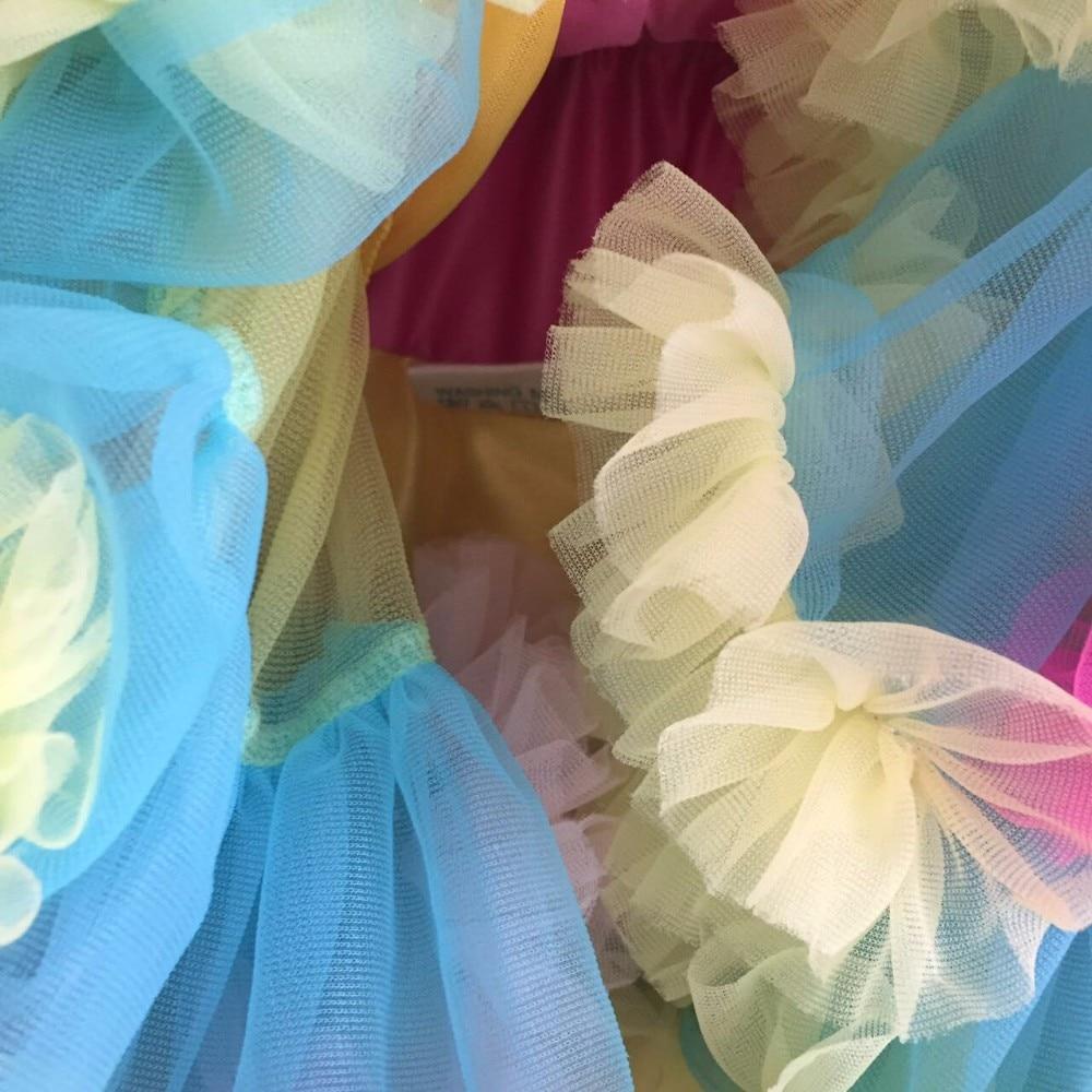 Юбка-американка; юбка радужной окраски; Юбка для маленьких девочек; очень пышная фатиновая юбка-пачка; Юбки принцессы; юбки для вечеринок; юбки для дня рождения