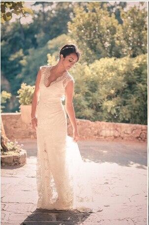 Vestido De Noiva Sereia Elegant Lace Mermaid Wedding Dresses Vintage Court Train 2015 Robe Mariee Princesa