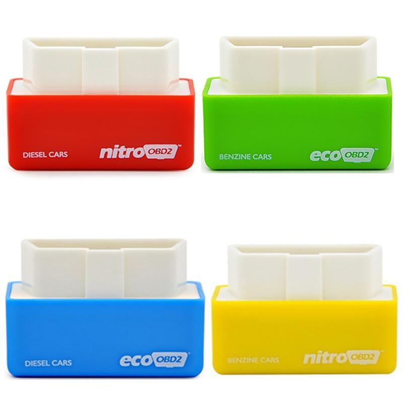 4 шт. эко NitroOBD2 Nitro OBD2 чип тюнинг коробка подключи и Драйв чип дизель Настройка/бензин чип тюнинг коробка plug Drive автомобили дизель